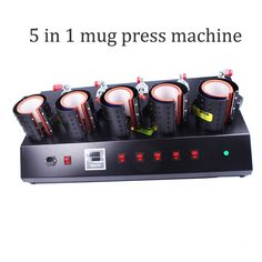 346.50$  Buy here - http://ali4df.worldwells.pw/go.php?t=32687952321 - free shipping High-Efficiency 5 In 1 Mug/Cup Printing Machine,Manual Mug Press Machine,Heat Press/ Sublimation Mug Machine