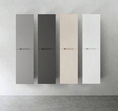 Tidløst nordisk baderomsdesign - Byggmakker - Lilly is Love Interior Inspiration, Design Inspiration, Minimalist Decor, Scandinavian Style, Bathroom Accessories, Mineral, Tall Cabinet Storage, Ikea, Shelves