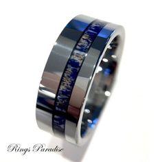 Antler Tungsten Ring, Elk Antler Ring, Wedding Band, Antler Engagement Rings 9mm