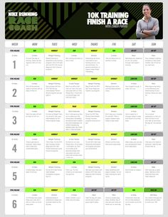 10K Training Schedule by Nike