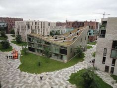 Sloping Rooftop Structures : Blok K Amsterdam Architecture, Roof Architecture, Amazing Architecture, Architecture Details, Garden Design, House Design, Roof Detail, Rooftop Garden, Exterior