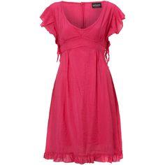 Sodamix summer love dress ($26) ❤ liked on Polyvore featuring dresses, vestidos, pink, women, pink dress, v neck summer dresses, v neck dress, tie back dress and cotton summer dresses