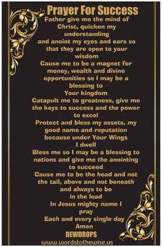 Prayer for success                                                                                                                                                      More