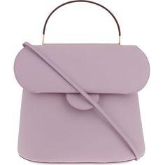 ROKSANDA Lady leather tote ($1,950) ❤ liked on Polyvore featuring bags, handbags, tote bags, lilac, purple leather purse, leather totes, man bag, hand bags and leather handbags