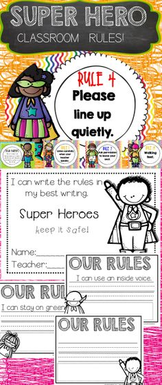 BACK TO SCHOOL CLASSROOM RULES!$