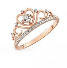 Anillo modelo Princesa con diamantes disponible en oro blanco, rosa y amarillo de 14k y 18k Pink And Gold, Rose Gold, Tiara Ring, Diamond Promise Rings, Pink Ring, Love Ring, Something Beautiful, Topaz, Gold Rings