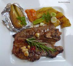 fischi`s cooking and more....: lammbeinscheiben mit kürbis vom grill