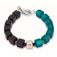 Color Block Cube Bracelet by Coeur de Lion – Fusion Art Glass Online Store