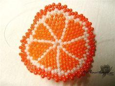 Брелок-долька апельсина