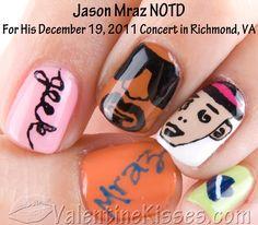 Jason Mraz nail art