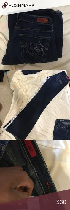 AG the Club Size 27 AG Adriano Goldschmied Jeans Flare & Wide Leg