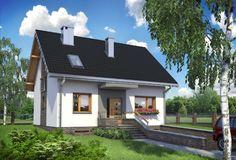 Projekt domu Sonia Mini to funkcjonalny dom, idealny dla 5 osobowej rodziny, z garażem w piwnicy