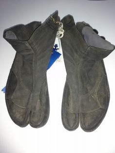 You've probably seen #ninja shoes for sale online. Why anyone would buy them is beyond me. But take a look at these. They're the real deal … Japanese #sniper shoes!  My father was in the Philippines during #WWII and brought them home with him. He hasn't told me yet what happened to the guy who was wearing them.