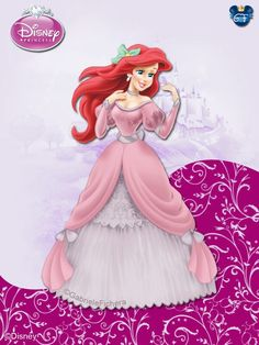 I really like the dress that I did to Ariel in this clip, it is full of details. ©Disney ©The Little Mermaid ©GabrieleFichera DisneyPrincess - ByGF Disney Princesses And Princes, Disney Princess Ariel, Princesa Disney, Princess Art, Winter Princess, Walt Disney, Disney Fun, Disney Style, Disney Dream