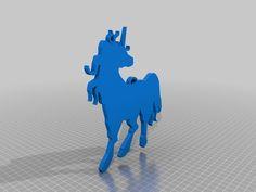 Unicorn Pendant by orgel - Thingiverse