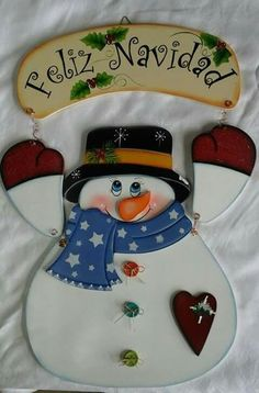 Christmas Picks, Christmas Snowman, Christmas Projects, Christmas Stockings, Christmas Ornaments, Foam Crafts, Wooden Crafts, Country Paintings, Snowman Crafts