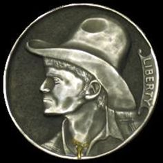 JAMES OLIVENCIA HOBO NICKEL - BOBBY - NO DATE BUFFALO NICKEL Hobo Nickel, Bobby, Buffalo, Coins, Carving, Rooms, Wood Carvings, Sculptures, Printmaking