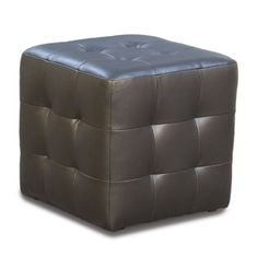 Zen Collection Tufted Bonded Leather Cube Ottoman (Mocca) x x Tufted Ottoman, Leather Ottoman, Urban Loft, Mocca, Bonded Leather, Contemporary Design, Cube, Shapes, Zen