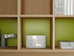 #Libreria Outline disponibile con schiene di diversi colori.. Catalogo complementi. www.moretticompact.com