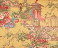 PIERRE DEUX SORIANO French County Toile Fabric By Elegantfabrics - Country french fabric