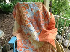 Love the colors and heirloom fabric in this waterproof picnic blanket!!  Made by Meadowlark Designs by Christine.  See more at www.meadowlarkdesigns1.etsy.com