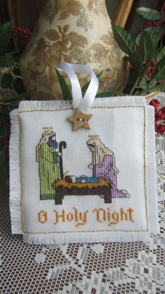 Counted cross stitch nativity Christmas by lilshopinthevalley, $20.00