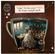 FREE K-CUP SAMPLE PACK (okay, so I just love the illustration!)