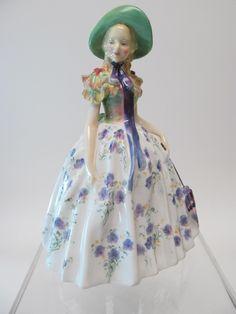 Royal Doulton Porcelain Figurine Easter Day HN1976 COPR 1945 in Pottery, Porcelain & Glass, Porcelain/ China, Royal Doulton | eBay