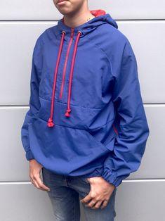 Diese Jacke habe ich aus multifunktionalen Oberstoff mit atmungsaktiver Beschichtung genäht ... Hooded Jacket, Rain Jacket, Windbreaker, Athletic, Diy, Fashion, The Last Song, Jackets, Water