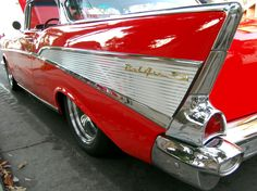 Red 1957 Chevy Bel Air Tailfin By Partywave On Deviantart Chevy