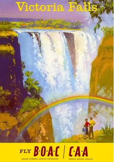 """victoria falls, victoria falls travel poster, victoria falls poster, victoria falls print, victoria falls travel, travel poster, wall decorThe artwork has been professionally reproduced and printed onto premium 180 gsm satin photographic poster paper. Choose from the following sizes:- A4 size (210mm x 297mm / 8.3"""" x 11.7"""")- A3 size (297mm x 420mm / 11.7"""" x 16.5"""")*** Plus: buy 2, get 1 FREE ***If you buy two full-price posters we'll send you a thirth one completely free of charge.Simply write a n Old Poster, Retro Poster, Original Travel, Original Art, Kunst Poster, Tourism Poster, Victoria Falls, Vintage Travel Posters, Vintage Airline"""