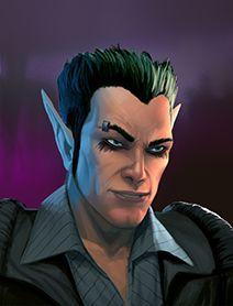 Male Elf Shadowrunners Portraits from Shadowrun Returns and Shadowrun Dragonfall.