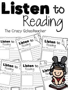 This pack has 15 listen to reading response worksheets. The perfect addition to any listening center. Kindergarten Reading, Reading Activities, Teaching Reading, Teaching Ideas, Learning, Daily 5 Reading, First Grade Reading, Listening Station, Listen To Reading