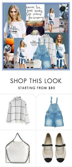 """""""Life is short don't be lazy."""" by leannesugarplum ❤ liked on Polyvore featuring Chicwish, Levi's, STELLA McCARTNEY and Chanel"""