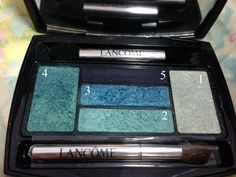 Aqua Makeup Look using Lancome eyeshadows #bbloggers