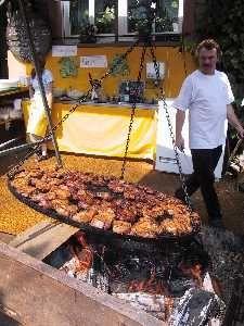 Schwenkbraten (schwenk= swinging  arm) An actual Swinging grill over the coals for this Steak dish