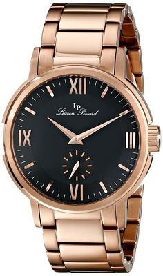 Lucien Piccard Men's LP-12744-RG-11 Bremen Analog Display Japanese Quartz Rose Gold Watch -- To view further for this watch, visit the image link.