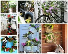 DIY Flower Planter Ideas– check out these fun ideas and share your own!