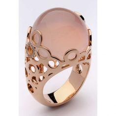 Pink gold, diamonds and gemstone ring by Ramon