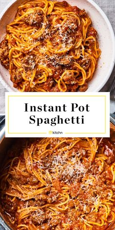 How To Make Instant Pot Spaghetti — Cooking Lessons from The Kitchn instapot recipes dinners,recipes cooking Best Instant Pot Recipe, Instant Pot Dinner Recipes, Instant Pot Meals, Instant Pot Pasta Recipe, Instant Pot Beef Stew Recipe, Instant Pot Pressure Cooker, Pressure Cooking, Pasta In Pressure Cooker, Easy Pressure Cooker Recipes