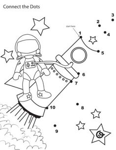 connect dot to dot rocket Grundschule Preschool Rocket, Rocket Craft, Space Theme Preschool, Space Activities, Space Projects, Space Crafts, Kids Crafts, Preschool Worksheets, Preschool Activities