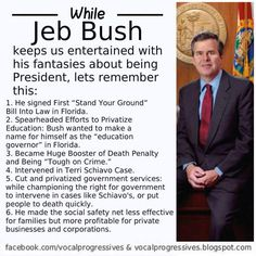 Before you get too excited about #JebBush look at his awful record.