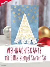 Mit unseren Stempeln können Sie tolle Karten und Accessoires für die Weihnachtszeit gestalten. Karten Diy, Starter Set, Happy New, Advent, Playing Cards, Merry, Decor, Winter, Diy Christmas Cards