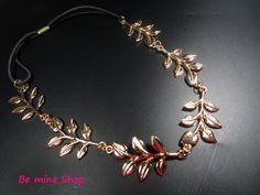goldfarbenes Metall-Haarband im edlen Blatt-Design: VK 4,95€ DaWanda: http://de.dawanda.com/…/92993435-haarband-metall-blatt-desi…
