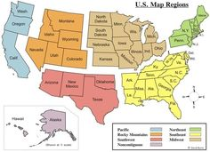 Map Memory Tricks Learning the States Pinterest Geography
