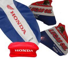 HONDA XR 400 XR 250 KIT SEAT COVER GRIPP  & TANK DECALS & REAR FENDER BAGS  #MmCdMotoShop