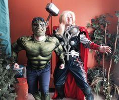 Thor, son of Odin and the Incredible Hulk...SMASH!!