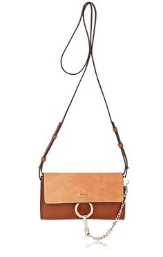 CHLOÉ Faye Mini-Bag. #chloé #bags #shoulder bags #suede #