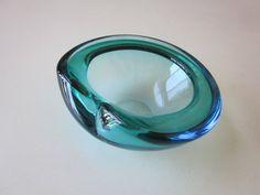 Mid-Century Modern Glass Ashtray by MildredsBargains on Etsy