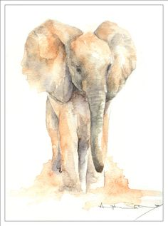 Donate to the David Sheldrick Foundation to help elephants and rhinos.  It's only $50 a year to give one animal food and care.  Look them up: http://www.sheldrickwildlifetrust.org  Not only will you feel so good about helping the helpless but you also get updates on the animals and one of these beautiful watercolors every month...